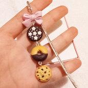 Segnalibro bookmark biscottino, creazioni in fimo, handmade, kawaii