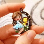 Fimo Collana necklace piccola Dorothy, leone codardo, creazioni, fanart