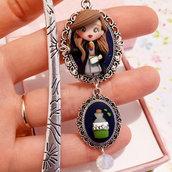 Fimo Segnalibro bookmark Hermione Granger, handmade, creazioni in fimo, polyjuice potions
