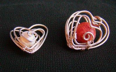 ciondolo san valentino argento, madrepora, perla di fiume