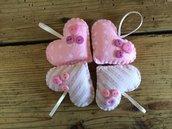 Bomboniere, bomboniere a cuore, bomboniere in feltro stampato, cuori in feltro, idea bomboniera, semplice bomboniera