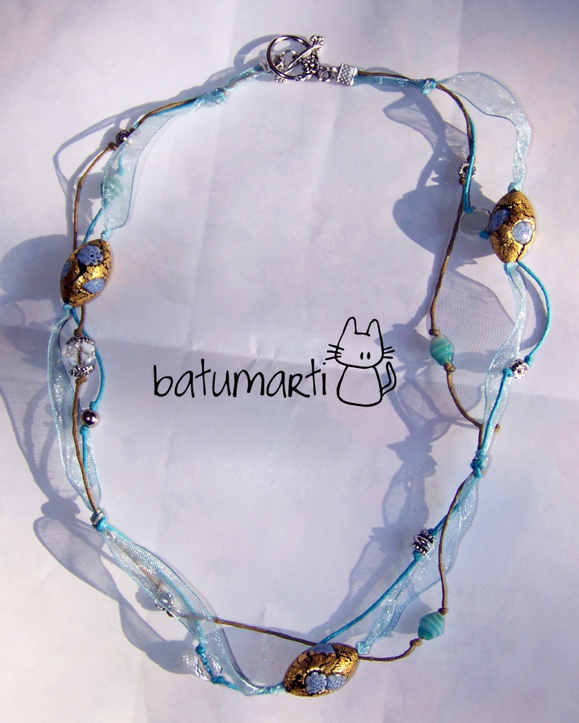 Collana azzurra - Light blue necklace