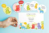 KIT FESTA di COMPLEANNO bambini - mod. Dino / Invito compleanno tema dinosauri / set fai da te digitale stampabile