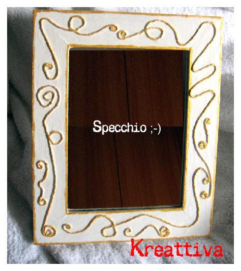 Specchio da tavolo per la casa e per te arredamento di kreattiva su misshobby - Specchio per te ...
