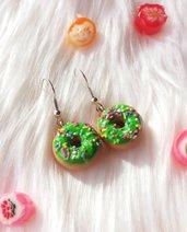 Orecchini con Donuts verdi