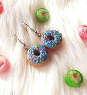 Orecchini con Donuts azzurri