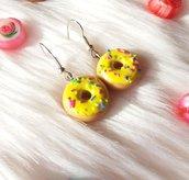 Orecchini con Donuts gialli