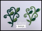 10 Fustellati/Nuovo Ramo con foglie