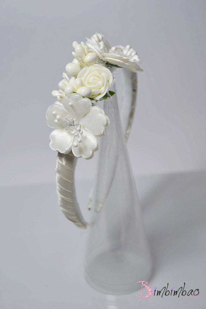 cerchietto cerchietto corona coroncina capelli elegante da cerimonia comunione cresima damigella sposa accessori tiara