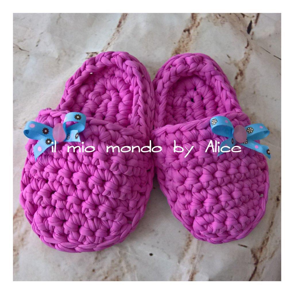 Pantofole in lycra per bimba