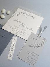 Partecipazioni di nozze minimal / inviti matrimonio / coordinato biglietto invito, cerimonia, ricevimento /partecipazioni fai da te digitali