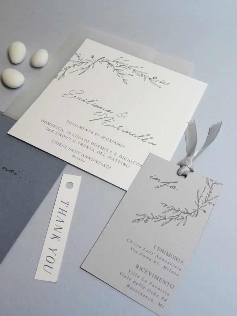 Inviti Matrimonio Azzurro : Partecipazioni di nozze minimal inviti matrimonio