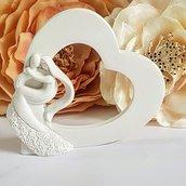 stampo cuore con coppia sposi