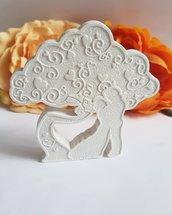 bomboniera matrimonio albero con coppia