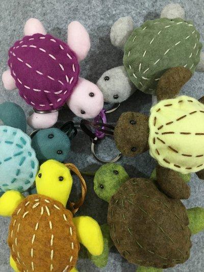 Portachiavi tartaruga in panno