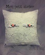 Cuscino portafedi bianco