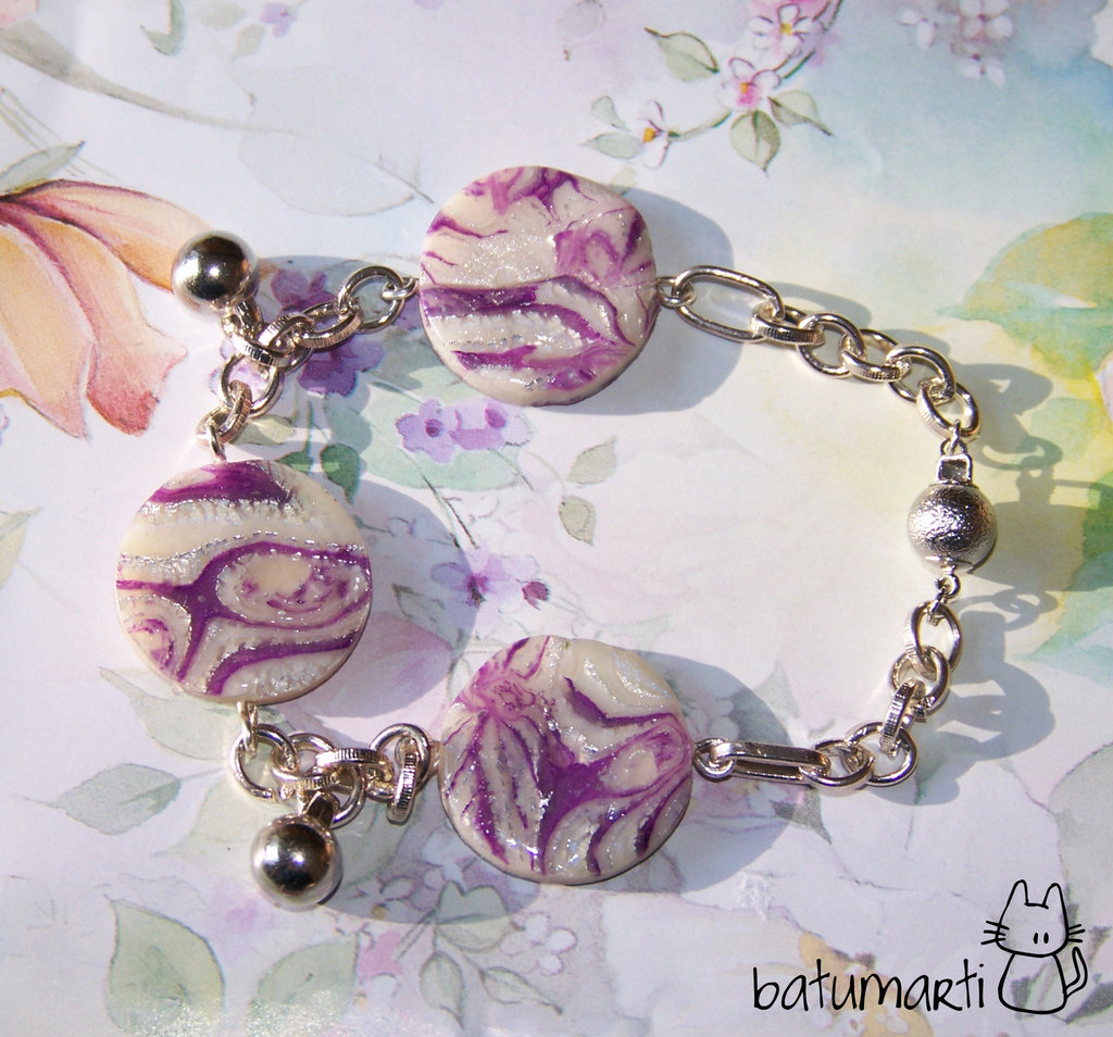 Bracciale viola - Violet bracelet