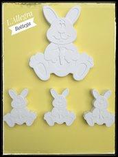 4 Gessetti a forma di Coniglietto