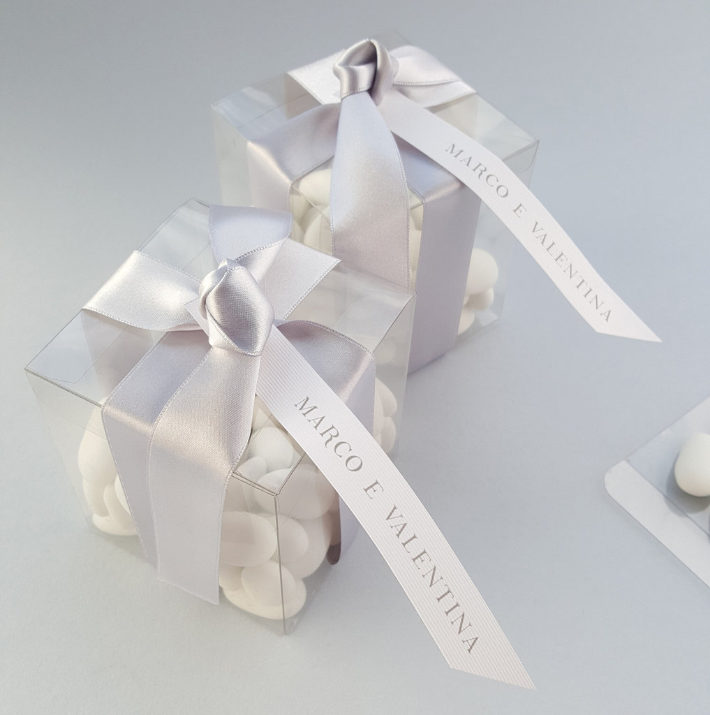 Bomboniere Matrimonio Battesimo.Bomboniere Matrimonio Battesimo Scatoline Confetti Fiocco