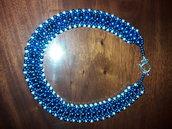 girocollo blu elettrico