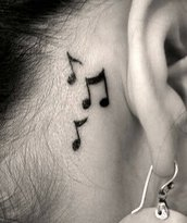 Tatoo temporaneo water transfert note musicali musica