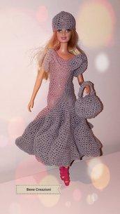 Abito Barbie uncinetto - modello Perla