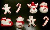 Decorazioni natalizie varie in polvere di ceramica