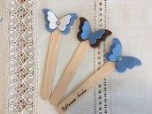 Segnaposto Battesimo maschietto con farfalla in gomma crepla