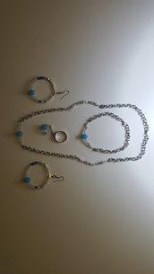 Completo Azzurro Bijoux