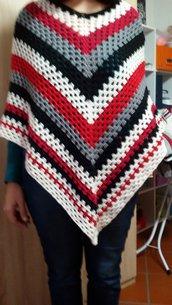 Poncho multicolor lana
