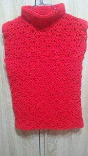 Maglia Smanicata Rossa