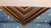 Scialle virus uncinetto lana multicolor poncho