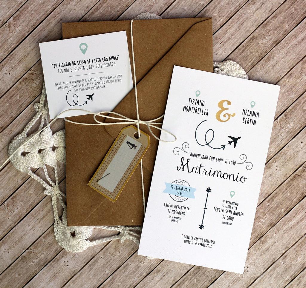 Matrimonio Tema Viaggio Frasi : Partecipazione di nozze tema viaggio quot fly feste