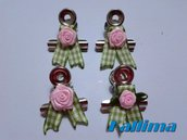 Clips decor ROMANCE  per traveler's notebook in metallo realizzate a mano