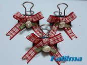 Clips   RED COUNTRY per traveler's notebook in metallo realizzate a mano