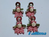 Clips  SHABBY COUNTRY per traveler's notebookin metallo realizzate a mano