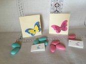 Scatolina portaconfetti Battesimo color avorio con farfalla