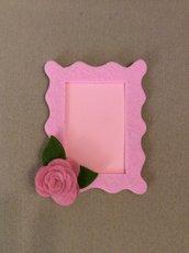 Portaritratti feltro con rosa