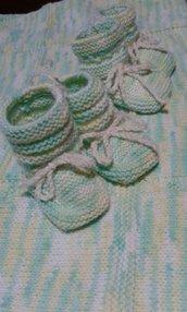 calzini baby misto lana nuova fatta a mano