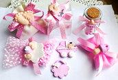 inserzione personale per 30 sacchetti fiocco rosa calamite misto piedini carrozzina ciuccio biberon