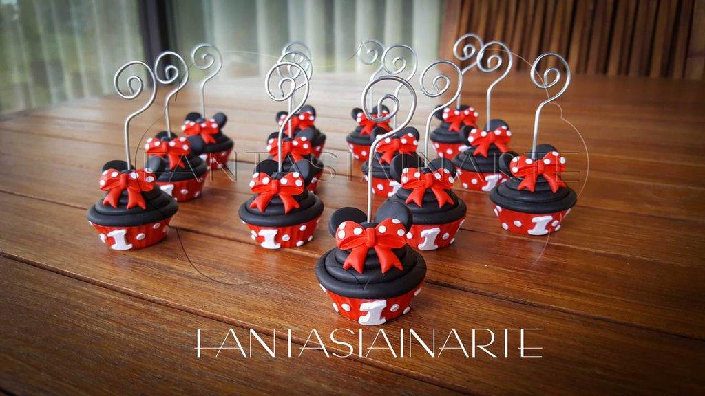 Bomboniere Porta memo CupCake Topolina Primo Compleanno