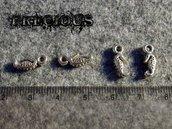 8 pz mini charms ippocampo