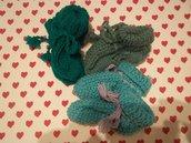 Tris scarpine neonato verdi