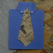 Biglietto festa del papà • Camicia con cravatta
