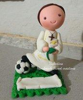 Statuina bomboniera comunione calcio