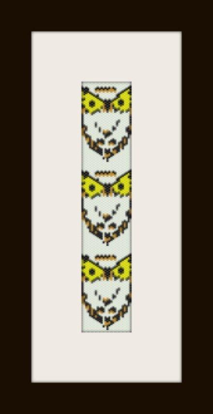 PDF schema bracciale Civetta in stitch peyote pattern - solo per uso personale