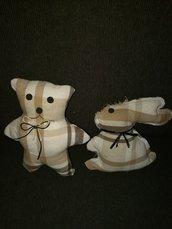 coppia orsetto coniglietto
