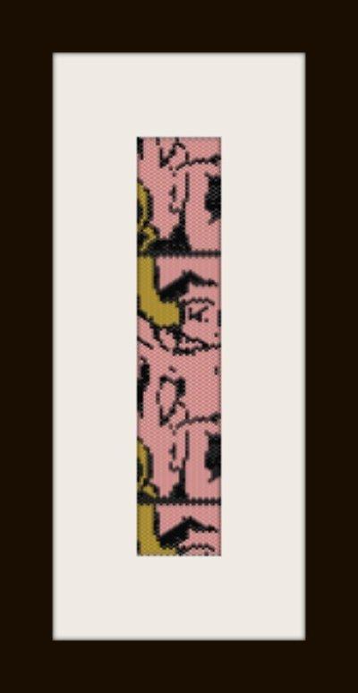 PDF schema bracciale Fumetto in stitch peyote pattern - solo per uso personale