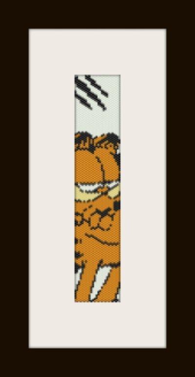 PDF schema bracciale Garfield in stitch peyote pattern - solo per uso personale