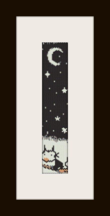 PDF schema bracciale Gatto di notte in stitch peyote pattern - solo per uso personale